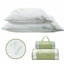 2 PACK King Bamboo Pillow Memory Foam Hypoallergenic Cool Comfort With Bag NEW