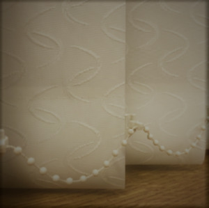 Vertical blinds non blackout Cameo Cream pattern Made to Measure up to 400cm