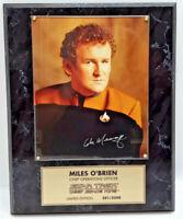 Colm Meany/Miles O'Brien Star Trek:Deep Space 9  Autographed Photo Plaque-QVC