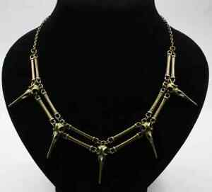 Raven Crow Skulls Necklace/Choker. Silver or Bronze. Goth Halloween Pagan Witch