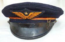 Casquette 1929-1940 Pilote troupe AVIATION ARMÉE DE L'AIR WWII ORIGINAL France