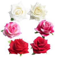 10x 10.5cm Artificial Flannel Rose Flower Head Home Party Wedding Decoration DIY