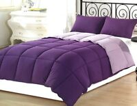 purple Solid 5PC Bed Set(Comforter&Sheet Set) US Sizes 1000TC Egyptian Cotton