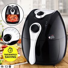 Electric Deep Air Fryer Oil-less Healthy Low-Fat Timer/Temperature Control Black