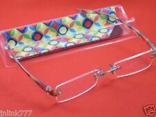 120:NEW Magnivision Line Your Eyes Unisex Reading Eyeglasses+Case-1.00