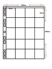 50 x 20 pocket A4 polypropylène manches pogs/tazos de conservation