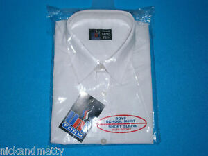 """BOYS/MANS TOP QUALITY SCHOOL-WORK SHIRT SS;TO 45""""CHEST"""