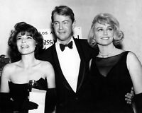 ANNE BANCROFT, TROY DONAHUE & DOROTHY MALONE GOLDEN GLOBES - 8X10 PHOTO (AB-386)