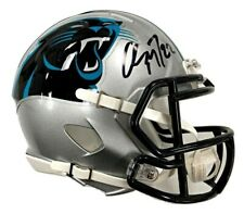 CHRISTIAN MCCAFFREY Signed Panthers Speed Mini Helmet Beckett Witnessed COA