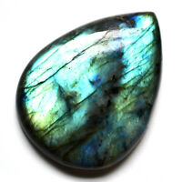 Cts 96.50 Natural Doube Shade Full Fire Labradorite Cabochon Pear Cab Gemstone