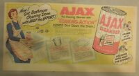 Ajax Cleanser Ad: Get Bathroom Cleaning Done With Half The Effort ! from 1950's
