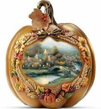 Thomas Kinkade   Bountiful Blessings Give Thanks ✪New✪ Pumpkin Rare Retired Brad