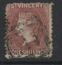 ST. VINCENT - 1872 PERF.11-12½ 1/- DEEP ROSE-RED FINE USED SG.17 (REF.D303)