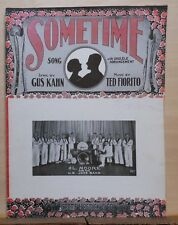 Sometime - 1925 sheet music - Al Moore  & His U.S. Jazz Band photo cover