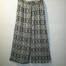 Pants XL 1X 2X Plus Cropped Wide Leg Silky Black Ivory Comfortable NWT 900 AA