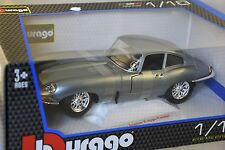 Burago 12046GR - JAGUAR E TYPE COUPE 1961 BLEUE 1/18 BBURAGO