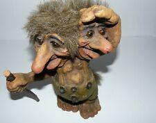 Vtg Original NyForm Handmade Norway Troll #101 Two Headed Cane