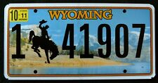 """WYOMING  """" BRONCO - BUCKING HORSE COWBOY SNAKE RIVER """" WY Graphic License Plate"""