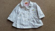 Mayoral Baby Girls White Cotton Jacket, Coat with Applique Rabbit. 6 m