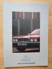 JAGUAR DAIMLER Approvato AUTO USATE programma 1996-97 UK Mkt opuscolo-XJ XJS XKR