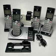 AT&T 4 Handset Phone Answering System Smart Call Blocker Silver Black CL82407