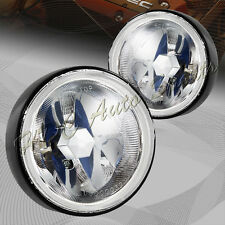 "3.5"" Round Chrome Housing Clear Lens Driving Fog Light Lamp + Switch Universal 3"