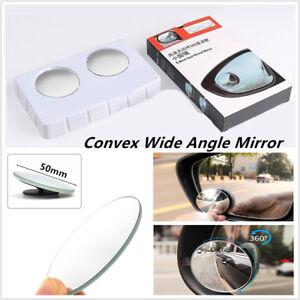 2PCS Universal Car SUV Trucks Convex Wide Angle Blind Spot Mirror Rear View 50mm