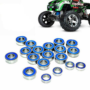 19Pcs Hybrid Blue Rubber Seals Bearing For Traxxas Slash Rustler 2WD 1/10 RC Car