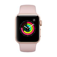 Apple Watch Series 3 GPS 38mm Aluminiumgehäuse Gold Sportarmband Sandrosa
