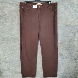 "Just My Size Classic Denim Jeans Womens 22W Stretch Brown Pockets 29"" Inseam"