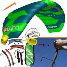 Peter Lynn Hornet 3M Foil Power Kite Kiteboarding 4-Line Fixed Quad Handles 2017