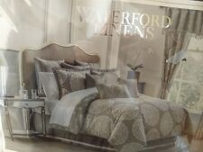 New Waterford Linens Darcy Queen Size 4 Piece Comforter Set Pewter