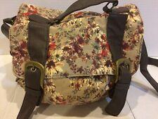 Icing Hobo Handbag Travel Bag Purse - Brown & Tan Floral