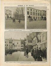 Flandres King George V Prince of Wales de Galles Prince de Teck Albert 1914 WWI