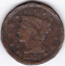 1851 U.S.A. Braided Hair 1 Cent   Copper   Pennies2Pounds
