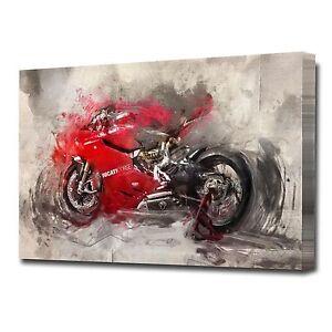 LARGE DUCATI MOTORBIKE CANVAS PRINT EZ1418
