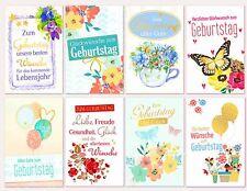 Geburtstagskarten Grußkarten aufklappbar mit Kuverts Top