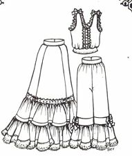 """Sewing Clothes Pattern fits 20  21"""" Doll slip underwear camacel 896"""