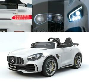 Two Seaters Licensed Mercedes AMG GTR Electric Battery Kids Ride On Cars Remote
