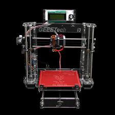Transparent Reprap 3d printer Prusa i3 Pro B MK8 extruder Clear Arcylic Frame