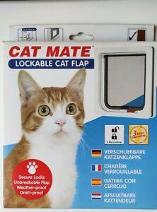Gattaiola Cat Mate bianco porta basculante 2 vie per cane gatto