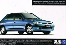 Publicité advertising 1997 (2 pages) Peugeot 306