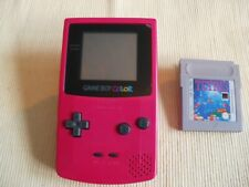 Nintendo Game Boy COLOR in Rosa mit den Top Spiel Tetris