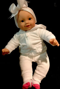 """Cititoy 2012 Baby Doll 19"""" Soft Cloth Body Chubby Cuddly With  Real Baby outfit"""