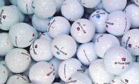 50 Wilson DX2/3 Soft Mix White Golf Balls Pearl/A Grade