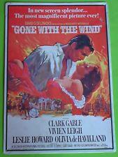 """"""" GONE WITH THE WIND """" - BLECHSCHILD - FILMPLAKAT-MOTIV von 1939 - 44 x 30 cm"""