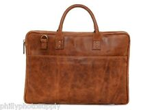 ONA Kingston Tan Leather Briefcase - Handcrafted Premium Bag ->>NEW!!!