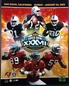 SUPER BOWL XXXVII Tampa Bay Buccaneers vs Oakland Raiders MATCH-UP 11x14 PHOTO