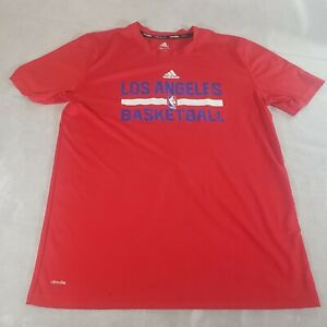 Adidas Climalite Youth Red Los Angeles Clippers T-Shirt  Size Large 14/16 NBA