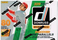 2019 Donruss Baseball Trading Cards 88c. Retail BLASTER Box=Purple&Rapture PC